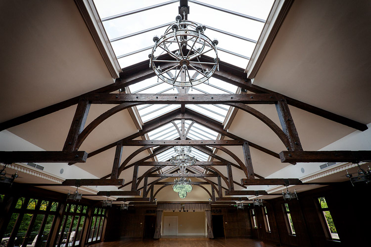 Crossbaskets Castle - roof lights and frameless glass screens